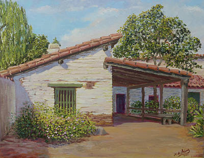 Painting - Estudillo House by Miguel A Chavez