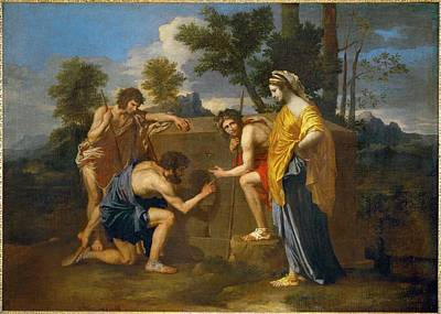 Ego Painting - Et In Arcadia Ego By Nicolas Poussin, 1637-1638 by Celestial Images