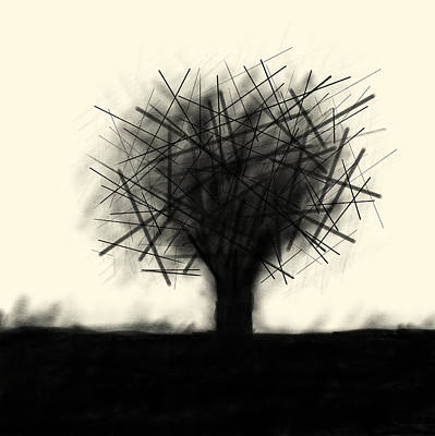 Drawing - Etching 26 - Post Apocalypse Tree by Bill Owen
