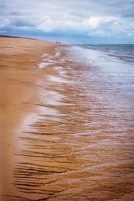 Photograph - Etchings In The Sand At Low Tide by Debra and Dave Vanderlaan