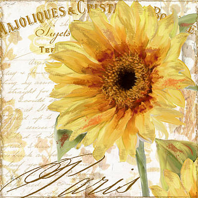 Sunflowers Royalty-Free and Rights-Managed Images - Ete II by Mindy Sommers