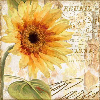 Sunflowers Royalty-Free and Rights-Managed Images - Ete by Mindy Sommers