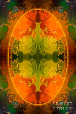 Digital Art - Eternal Energies Abstract Mandala Art By Omashte by Omaste Witkowski