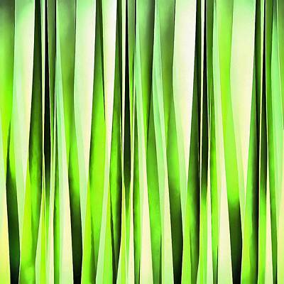Digital Art - Eternal Evergreen Stripy Pattern by Tracey Harrington-Simpson