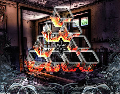 Digital Art - Eternal Flame by Michael Damiani