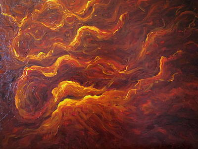 Painting - Eternal Flames by Mats Eriksson