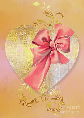 Declaration Of Love Painting - Eternal Heart, Wrapped In A Bow, Valentines Day Art by Tina Lavoie
