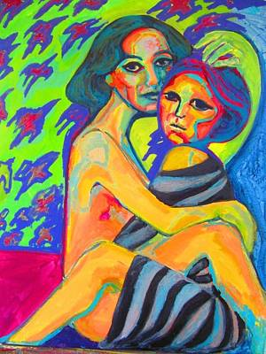 Painting - Eternal Hugs by Raquel Sarangello