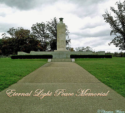 Photograph - Eternal Light Peace Memorial 2 by Chris W Photography AKA Christian Wilson