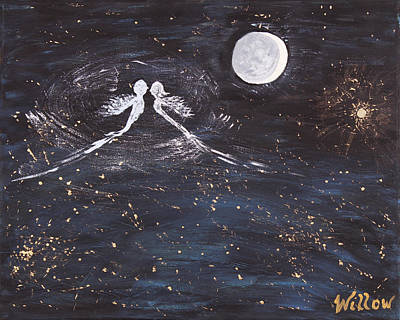 Twin Flame Painting - Eternal Love  by Artwork by Willow