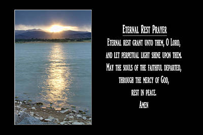 Jesus Photograph - Eternal Rest Prayer by James BO  Insogna