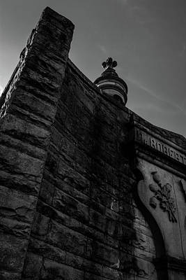 Photograph - Eternal Stone Structure Bw by James L Bartlett