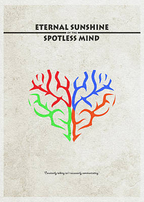 Kaufman Digital Art - Eternal Sunshine Of The Spotless Mind - Alternative And Minimalist Poster by Inspirowl Design
