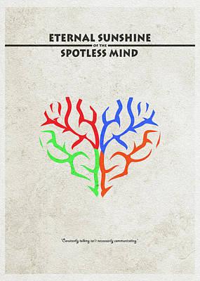 Hearts Digital Art - Eternal Sunshine Of The Spotless Mind - Alternative And Minimalist Poster by Ayse and Deniz