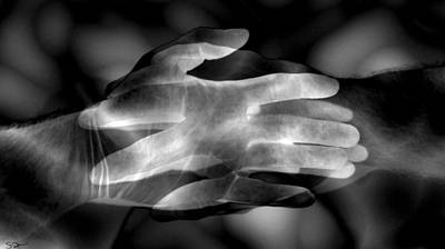 Hand Photograph - Eternity by Abstract Angel Artist Stephen K