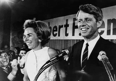 Ev-in Photograph - Ethel Kennedy, Robert F. Kennedy by Everett