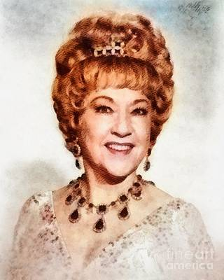 Ethel Merman Painting - Ethel Merman, Vintage Entertainer by John Springfield