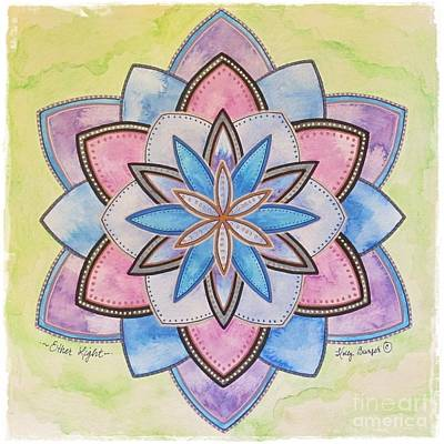 Painting - Ether Light Mandala by Holly Burger