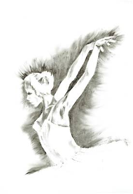 Ethereal Black And White Ballerina Poster 5  - By Diana Van Art Print by Diana Van