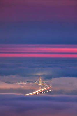 Ethereal Bridge, Oakland Bay Bridge Art Print by Vincent James