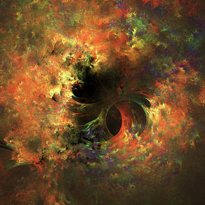 Digital Art - Ethereal Cosmos Abstract by Georgiana Romanovna