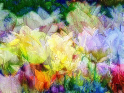 Digital Art - Ethereal Flowers by Kiki Art