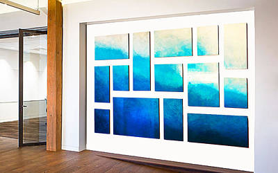 Installation Art Mixed Media - Ethereal Ocean by Rosemary Pierce
