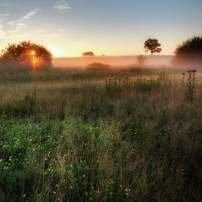 Sunrise Photograph - Ethereal Sunrise Square by Bill Wakeley