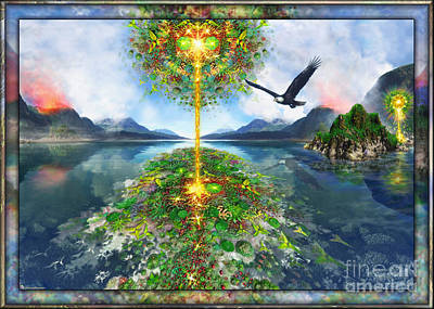 Etheric Lake Art Print