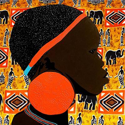 Etnic Art Mixed Media - Ethiopian Girl 7 by Irene Jonker