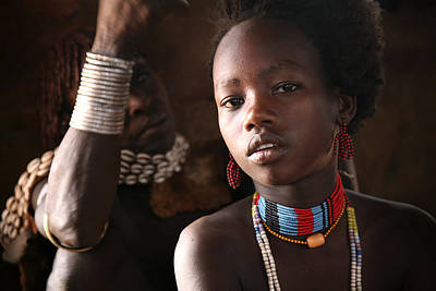 Photograph - Ethiopian Hamer Girl by Marcus Best