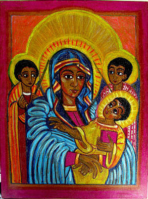 Painting - Ethiopian Madonna And Child Jesus by Sarah Hornsby