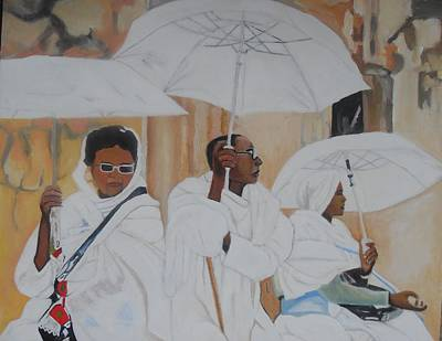 Ethiopian Woman Painting - Ethiopian Travelers by Patrick Hunt