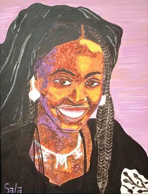 Ethiopian Woman Painting - Ethiopian Woman by Sala Adenike