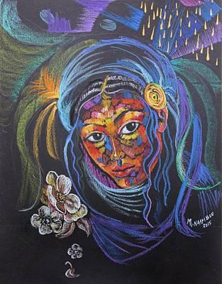 Ethiopian Woman Painting - Ethiopianesh by Martha Nesibu