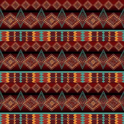 Ethnic African  Pattern Art Print by Gala Ricci
