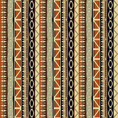 Ethnic African Seamless Pattern Art Print by Gala Ricci