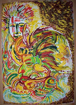 Ethnic Art Print by Helene  Champaloux-Saraswati