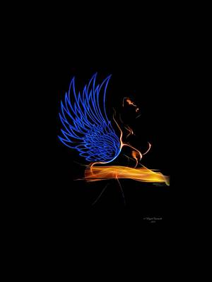 African-american Digital Art - Ethnic Solar Wings by Majula Warmoth