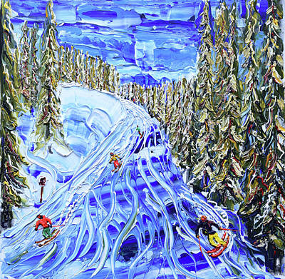 Painting - Etierces Piste Verbier by Pete Caswell