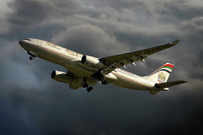 Airways Photograph - Etihad Airways Airbus A330-243 by Nichola Denny