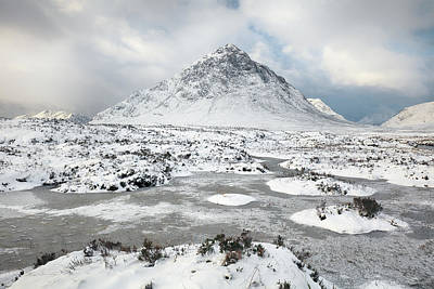Photograph - Etive Mor Winter by Grant Glendinning