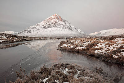 Stob Dearg Photograph - Etive Mountain Sunrise by Grant Glendinning