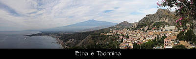 Photograph - Etna E Taormina by John Meader