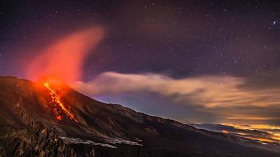 Photograph - Etna Eruption March 2017 by Emilio Messina