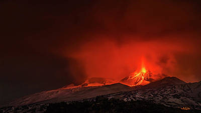 Photograph - Etna Volcano eruption by Emilio Messina
