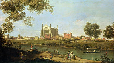 Boarding Painting - Eton College by Canaletto