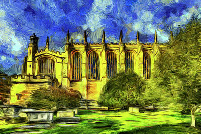 Mixed Media - Eton College Chapel Art by David Pyatt