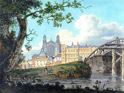 Painting - Eton College From Datchet Road by Thomas Girtin