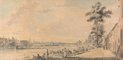 Painting - Eton College From The South by Paul Sandby